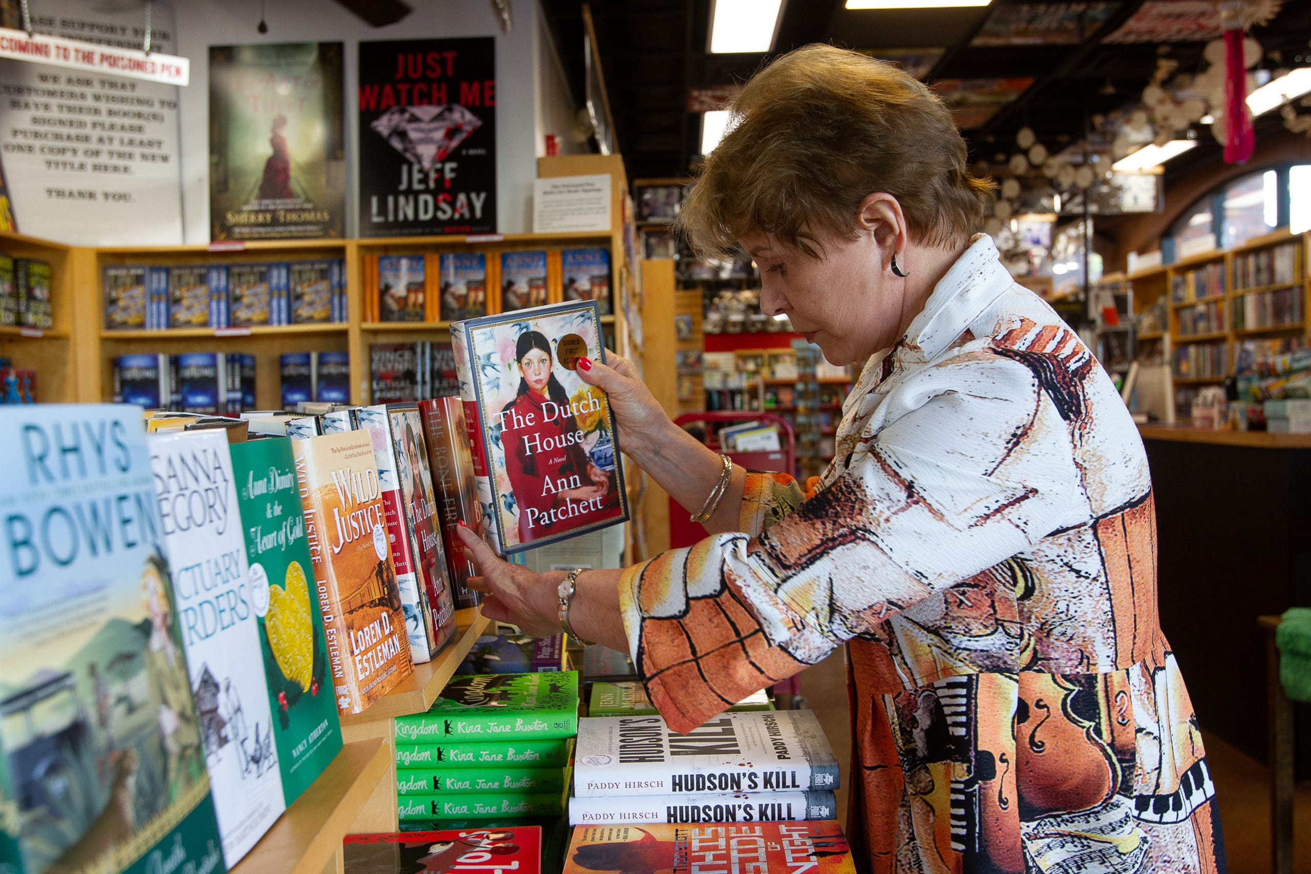 Barbara G. Peters says 70 percent of Poisoned Pen Bookstore's customers are from outside of Arizona, September 24, 2019.