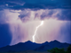 Vista de los rayos que se visualizaron en el norte de Scottsdale. Aguaceros torrenciales, granizo y alerta de tornado provocaron los remanentes de Lorena que esta semana se hicieron presentes en el Valle del Sol.