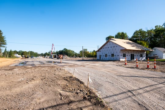 Construction is progressing on a new apartment complex on Clinton Avenue in St. Clair.