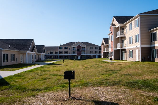 Construction is wrapping up on the Dutton Estates apartment complex in St. Clair. The complex is expected to be completely open in a few days.