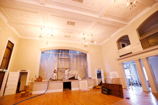 Inside the former masonic temple on Cannon Street in the City of Poughkeepsie on September 26, 2019.  The building is currently being renovated and will be called Revel 32 which will be a multi faceted venue for concerts, events and weddings.