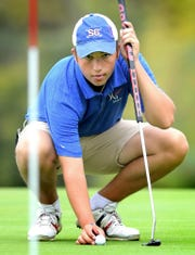 Spring Grove's Karl Frisk, seen here in a file photo taken earlier this fall, fired a 68 on Monday at the PIAA East Regional at Golden Oaks Golf Club in Fleetwood, Berks County.