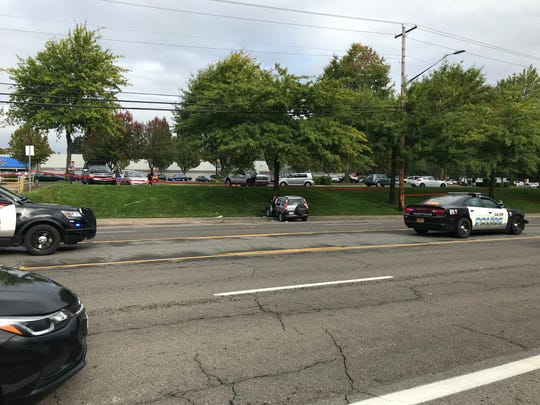 Two people were taken to the hospital following a single-vehicle collision that closed a section ofCommercial Street SE for more than an hour Thursday, Sept. 26, 2019.
