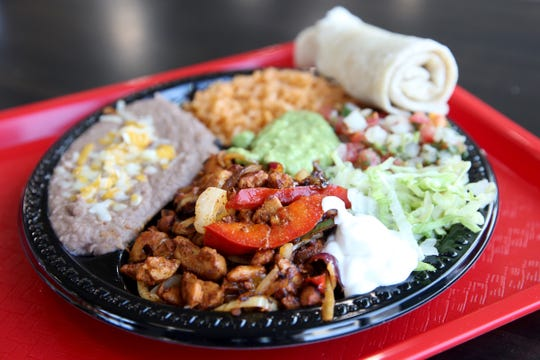 The fajitas combo plate at Victorico's Mexican Food in Salem on Sep. 25, 2019.