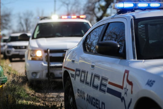 San Angelo Police Department vehicles.