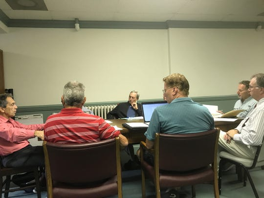 The Onancock Sewer Transmission Line Steering Committee meets for the first time on Thursday, Sept. 26, 2019 in Onancock, Virginia.