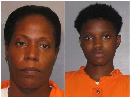 From left to right: Shania Graham and Lynterrica Williams