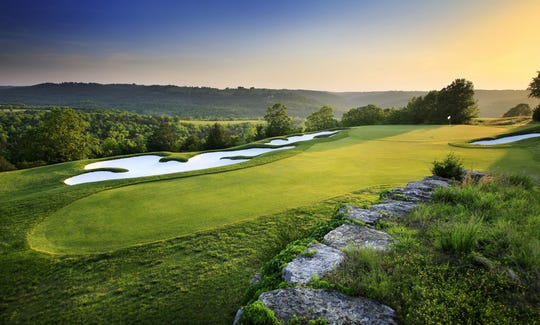 An undated publicity photo shows Buffalo Ridge golf course at Big Cedar Lodge in Ridgedale, near Branson, Missouri.