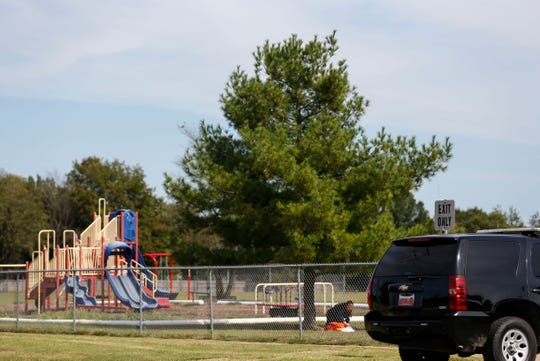 Rescue personnel and sheriff's deputies responded to Truman Elementary for a report that a student fell from a tree during recess on Thursday, Sept. 26, 2019.
