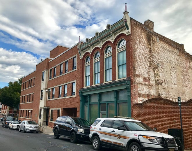 111 and 113 S. Augusta St., photographed on Sept. 26, 2019. The building, with the green front, sits beside the Augusta County General District Court.