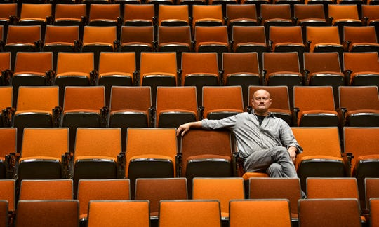 Associate professor of theater and film studies Vladimir Rovinsky is pictured Thursday, Sept. 26, 2019, at the Performing Arts Center at St. Cloud State University. Rovinsky is one of eight tenured St. Cloud State Professors notified that they will be laid off at the end of the school year.
