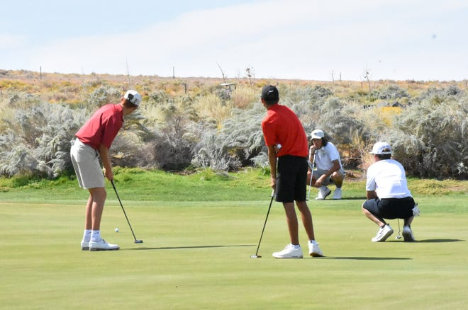 Region 9 golf teams teed off during the final region meet of the year at Sand Hollow Golf Resort.