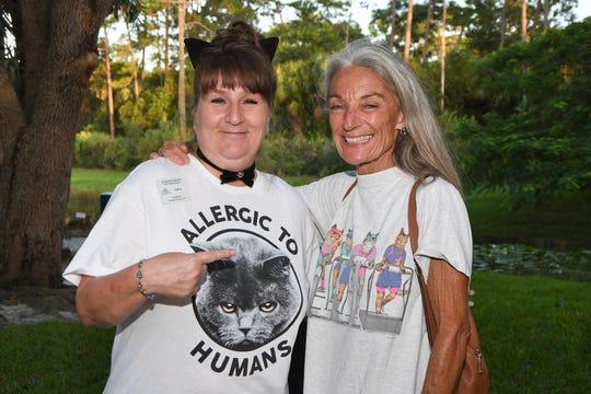 Kathy Brokaw, left, and Peggy Chase at the 2019 Kitty Catalina at the Humane Society of the Treasure Coast.