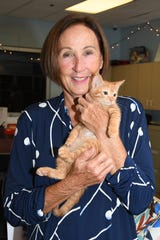 """Matthew found his """"furever"""" home with Jeanie Libutti at the 2019 Kitty Catalina at the Humane Society of the Treasure Coast."""
