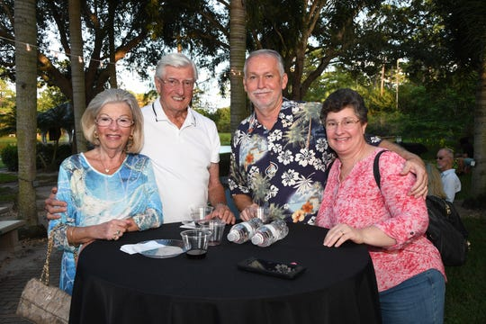 Marsha and Thomas Lange, left, Mike Johnson with Florida Native Grill Cleaning, one of the sponsors, and his wife, Donna at the 2019 Kitty Catalina at the Humane Society of the Treasure Coast.