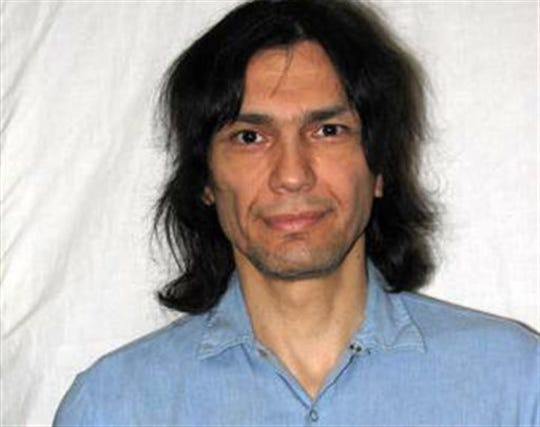 This photo released on Friday June 7,2013 shows convicted killer Richard Ramirez as seen in this June 15, 2007 photo in San Quentin State Prison in Marin County, Calif.