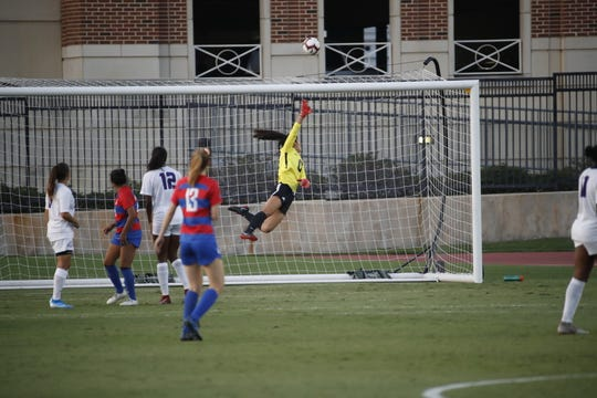 El Paso's Emily Alvarado has been a standout in goal for TCU the past two seasons and has played for Mexico in several international competitions.