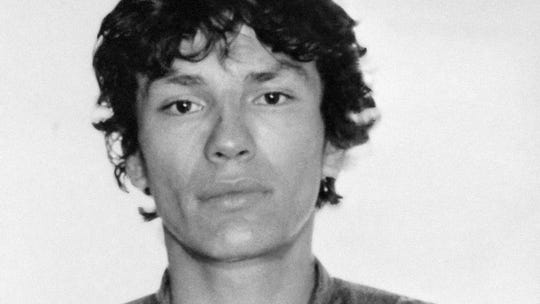 Richard Ramirez FILE - This undated file photo released by the Los Angeles Police Department shows the booking photo of serial killer Richard Ramirez shown in Los Angeles, Calif. Ramirez, known as the Night Stalker, has died in prison. San Quentin State Prison spokesman Lt. Sam Robinson says Ramirez died Friday, June 7, 2013.   (AP Photo/LAPD,File)