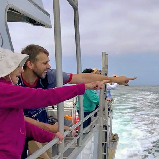 Grandma Joy Ryan and grandson Brad loved watching dolphins play and pelicans dive during their boat ride to Channel Islands National Park. It would be the 31st National Park they've visited together.
