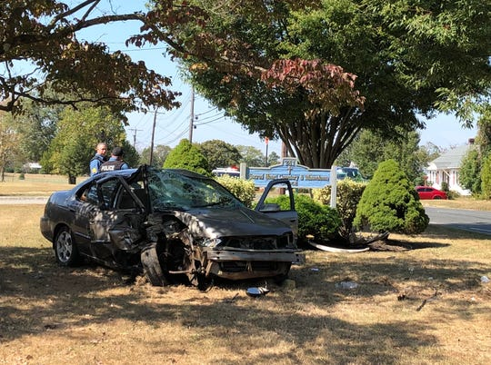 A Cumberland County man was injured in a single-vehicle crash on Walnut Road, Vineland. Sept. 26, 2019