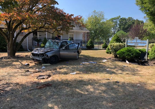 Vineland Police are investigating a single-vehicle crash on Walnut Road, Vineland, that sent a Millville man to Cooper University Hospital. Sept. 26, 2019