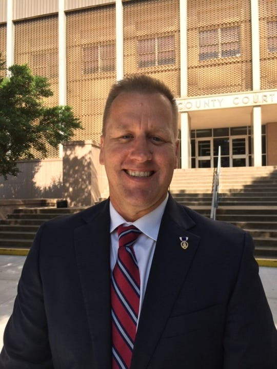 Joseph Robeson, a Wichita Falls police officer, announced Thursday his candidacy for Wichita County  Justice of the Peace, Precinct 1, Place 1.
