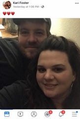 Sandan Shea Foster and wife Kari Foster are pictured here in this photo from Facebook. Sandan was killed Tuesday in a tanker fire in Windthorst.