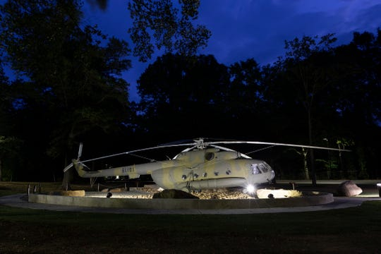 The 60-foot-long Russian-made helicopter that carried a small team of CIA officers on the first mission to Afghanistan after the 9/11 terrorist attack is now a permanent exhibit at the agency's headquarters in Langley, Virginia.