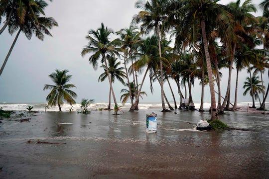 Tropical Storm Karen approaches in Naguabo, Puerto Rico, on September 24, 2019.