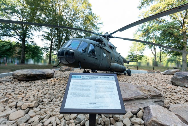 The Russian-made twin-turbine Mil Mi-17 helicopter that carried a small team of CIA officers on the first mission to Afghanistan after the 9/11 terrorist attack is now a permanent exhibit at the CIA headquarters in Langley, Virginia.