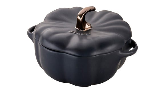 Fall meets function in this adorable cocotte.