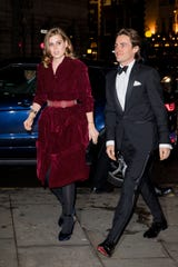 Princess Beatrice and Mozzi attend the Portrait Gala at London's National Portrait Gallery on March 12, 2019.