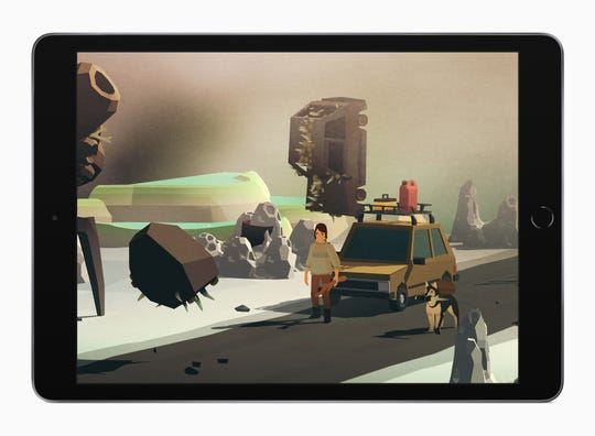 A scene from the Apple Arcade game 'Overland.'