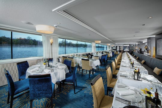 Open-seat dining on river ships makes for a convivial group experience.