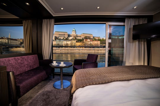 The staterooms on Avalon Waterways'  Suite Ships feature floor-to-ceiling windows that slide open to create an open-air balcony.