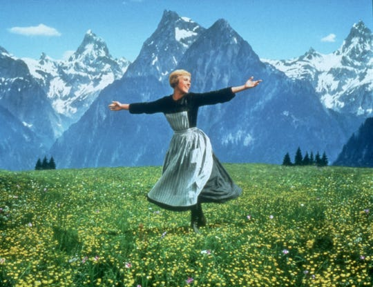 "Julie Andrews in a scene from ""The Sound of Music."""