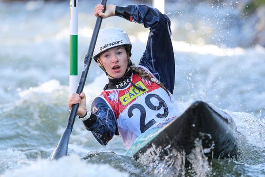 Evy Leibfarth, 15, of Bryson City, qualified the United States a spot at the 2020 Tokyo Olympics in women's slalom kayak Sept. 27 at the ICF Slalom Canoe World Championships in Spain.