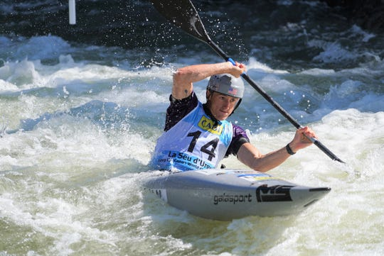 Michal Smolen, 26, who competes for the Nantahala Racing Club, advanced in men's slalom kayak Sept. 27 at the ICF Slalom Canoe World Championships in Spain.