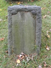 The 1793 headstone of Joshua Whitney in Spring Forest Cemetery still readable today.
