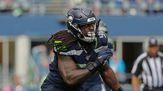 Seattle Seahawks defensive end Jadeveon Clowney