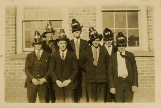 Black Mountain firefighters in the 1930s pose for a picture in front of the firehouse, which is now home to the Swannanoa Valley Museum & History Center. The department will celebrate 100 years of service on Oct. 12.