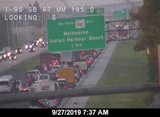 Highway officials reported a crash on Interstate 95 in Brevard County, Friday Sept. 27, 2019.