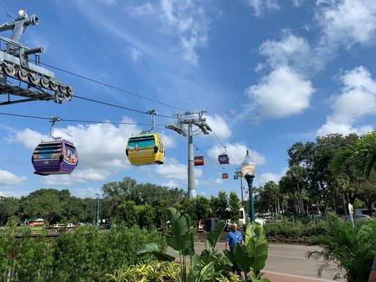 Disney Skyliner gondolas open Sunday, giving Orlando guests high-flying transportation