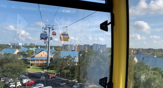 The new Disney Skyliner, opening Sept. 29 at Walt Disney World in Orlando, connects resorts with Epcot and Hollywood Studios.