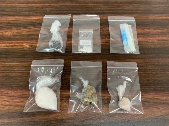 Aransas Pass police seized meth, heroin, black tar heroin and Xanax from a man during a traffic stop Thursday, Sept. 26, 2019.
