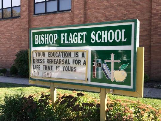 Bishop Flaget School sign.