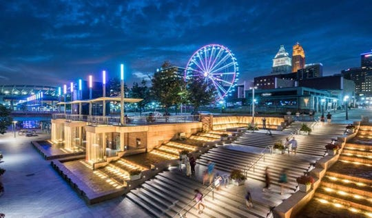 A rendering of the completed portion of Smale Park.