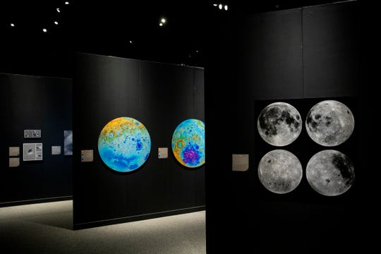 A New Moon Rises is a traveling photography exhibition from the Smithsonian on display at the Cincinnati Museum Center. It features large-scale photographs from the Lunar Reconnaissance Orbiter Cameras of the lunar surface from 2009 to 2015.