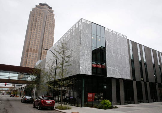 The new Miesblock building on Grand Avenue in Des Moines has been regarded as an architectural gem. The three-floor building is now open and the developers have space available for lease. A restaurant will be opening on the first floor next summer.