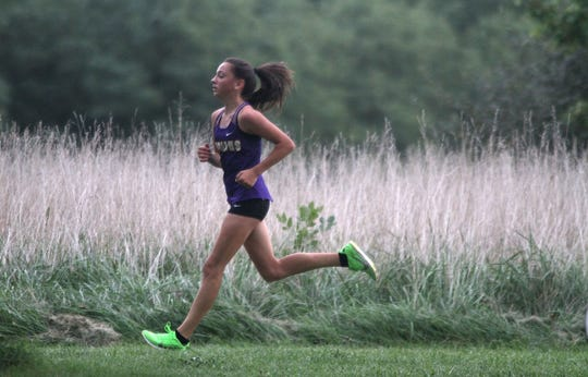 Indianola's Emily Naughton took third in 19:10.50. Indianola High School hosted the Indianola Invite at Pickard Park on Sept. 26.